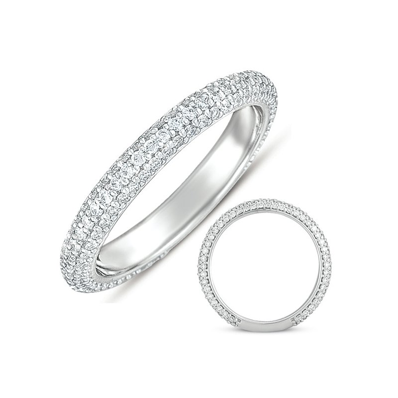 S. Kashi & Sons Bridal White Gold Pave Band (2.8mm Wide)