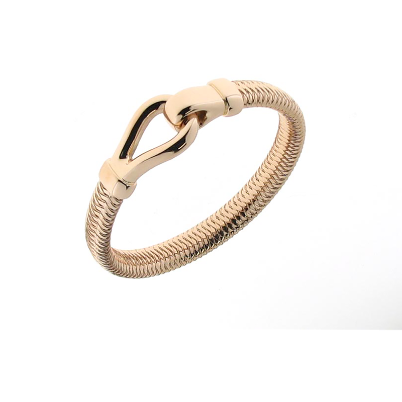 Roberto Coin 18KT ROSE GOLD BANGLE WITH BUCKLE