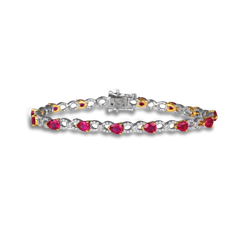 Ruby and Diamond Pear shape Bracelets