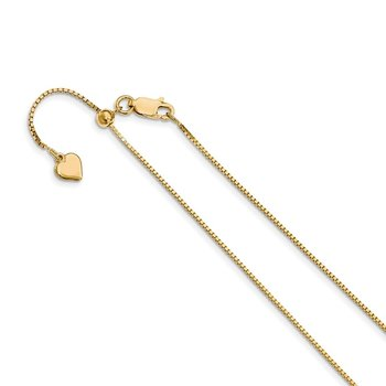 Leslie's Sterling Silver Gold-plated Adjustable .95mm Box Chain