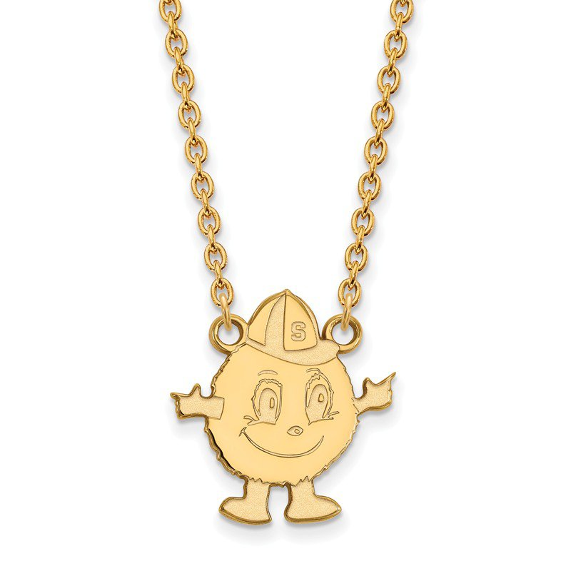NCAA Gold-Plated Sterling Silver Syracuse University NCAA Necklace