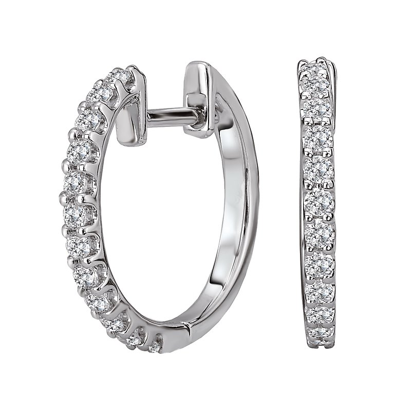 Tesoro Diamond Hoop Earrings