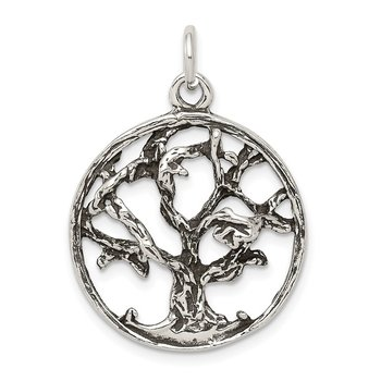 Sterling Silver Antiqued Tree Charm