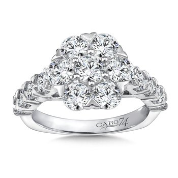 Diamond Halo Engagement Ring in 14K White Gold (1/3ct. tw.)