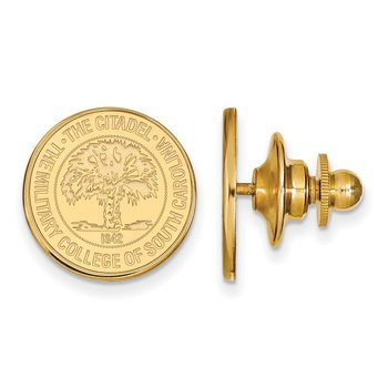 Gold-Plated Sterling Silver The Citadel NCAA Lapel Pin