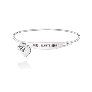 Mrs. Always Right ID Bangle