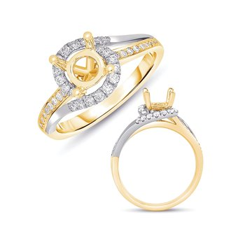 White & Yellow Gold Engagement Ring