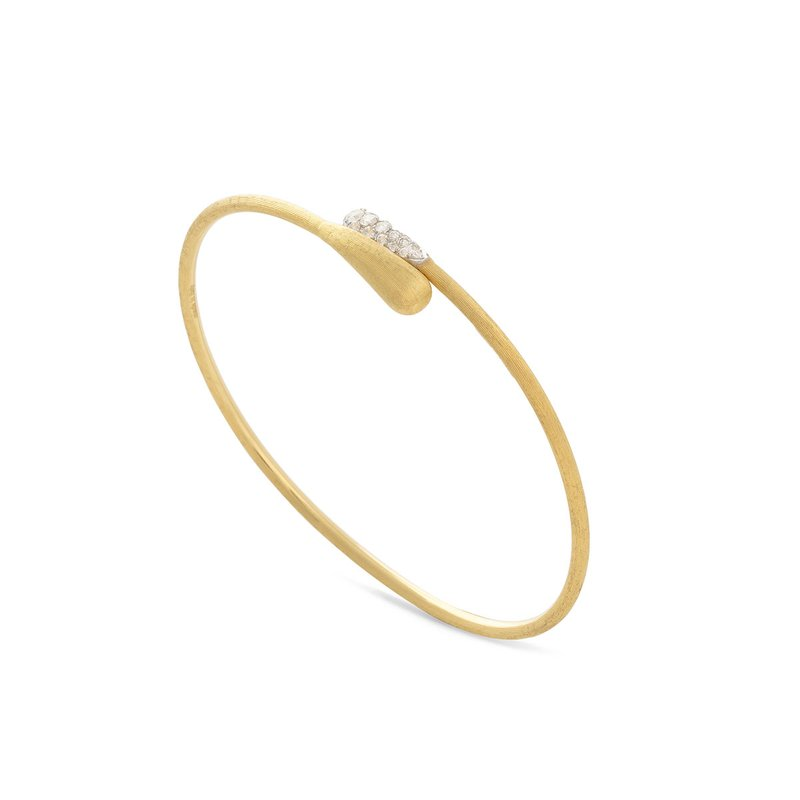 Marco Bicego Marco Bicego® Lucia Collection 18K Yellow Gold and Diamond Hugging Cuff