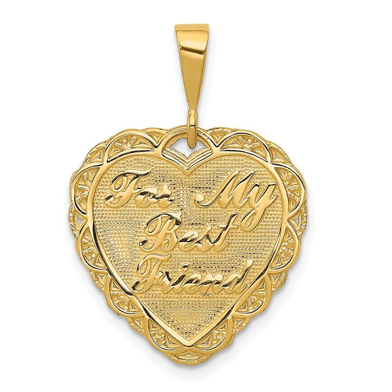 Quality Gold 14k FOR MY BEST FRIEND Charm
