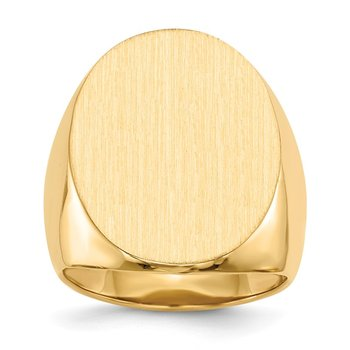 14k 26.5x19.0mm Open Back Mens Signet Ring