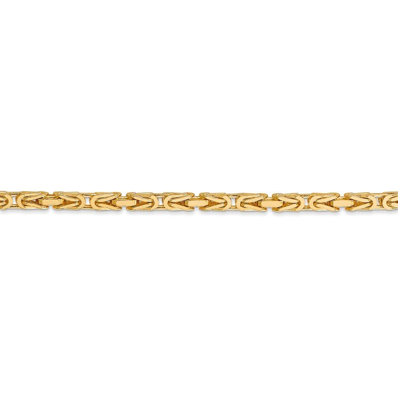 Quality Gold 14k 2.5mm Byzantine Chain
