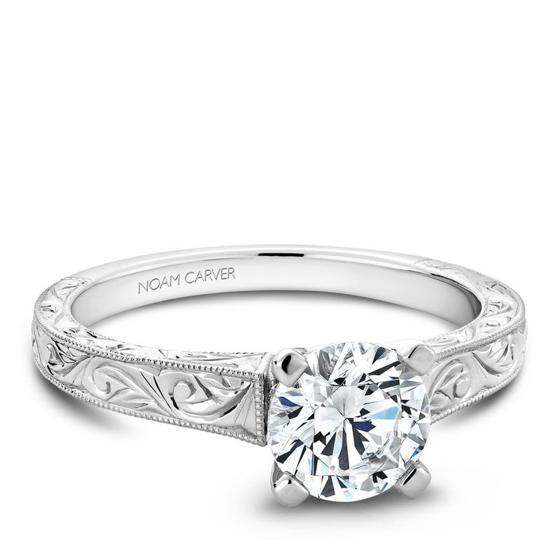 Noam Carver Vintage Engagement Ring B006-03EA