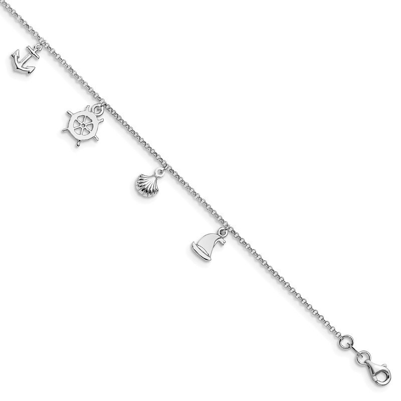 Leslie's Leslie's Sterling Silver Adjustable Anklet (9-10)