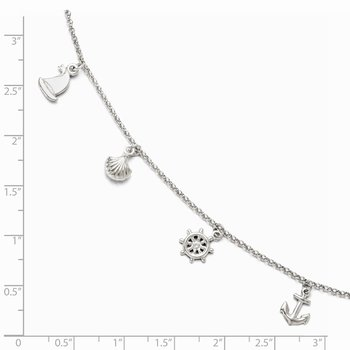 Leslie's Sterling Silver Adjustable 9-10 Anklet