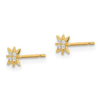 14k Madi K CZ Star Post Earrings
