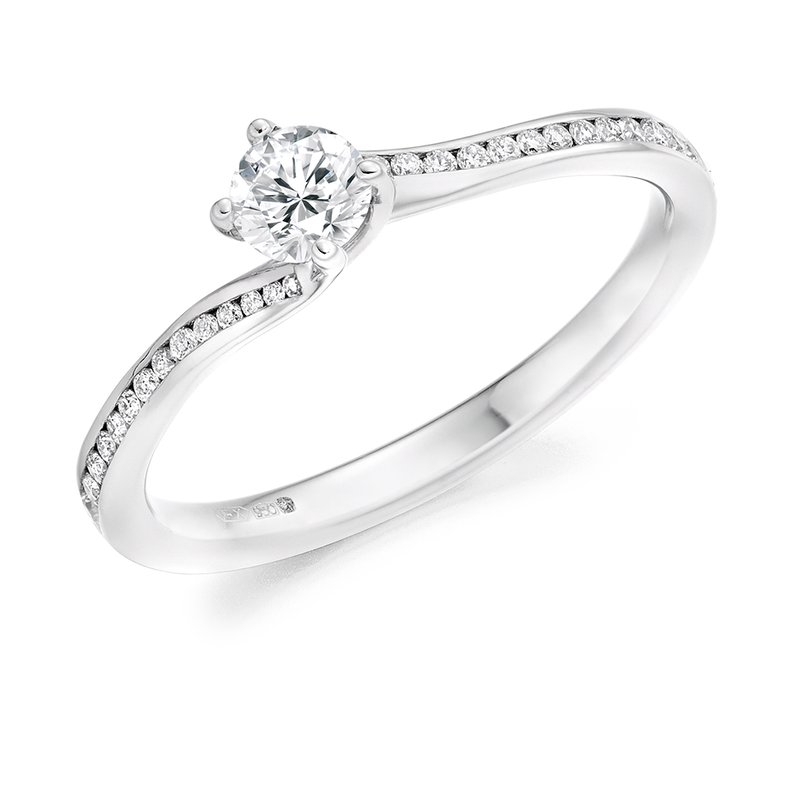 Raphael Solitaire with Diamond Set Shoulders