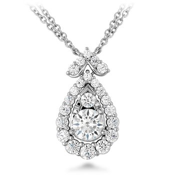 1.55 ctw. Aerial Victorian Halo Drop Necklace
