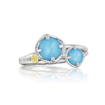 Budding Brilliance Duo Ring featuring Neo-Turquoise