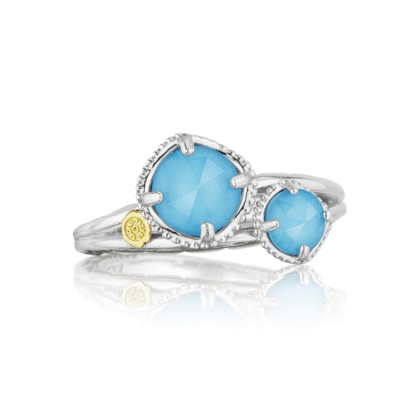 Tacori Fashion Budding Brilliance Duo Ring featuring Neo-Turquoise