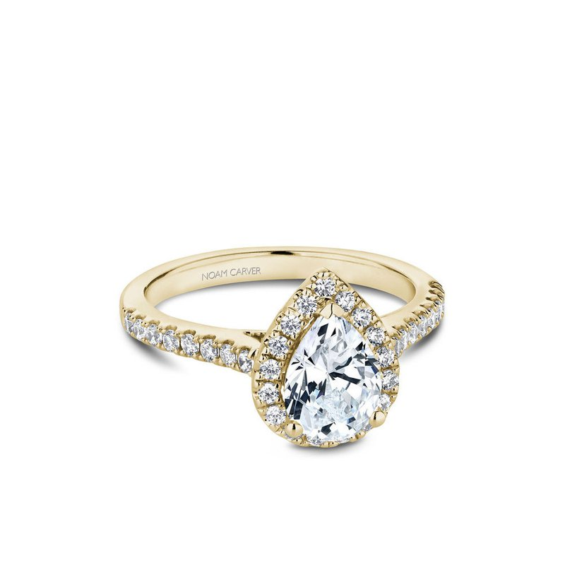 Noam Carver Pear Shaped Halo Engagement Ring