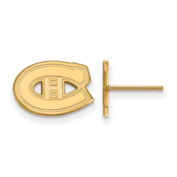 Gold Montreal Canadiens NHL Earrings