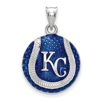 Sterling Silver Kansas City Royals MLB Pendant