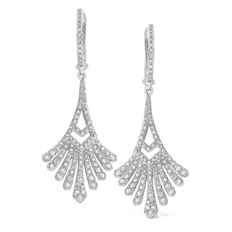 154d459c4 Burri Jewelers: KC Designs 14K Diamond Antique Style Dangler Earrings