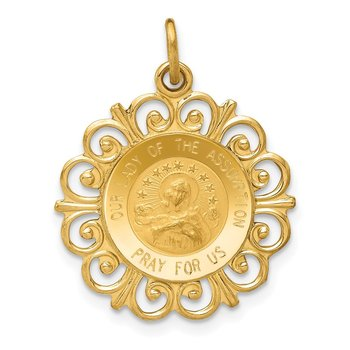 14k Our Lady Of The Assumption Medal Pendant