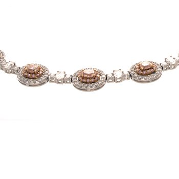 PINK & WHITE DIAMOND NECKLACE