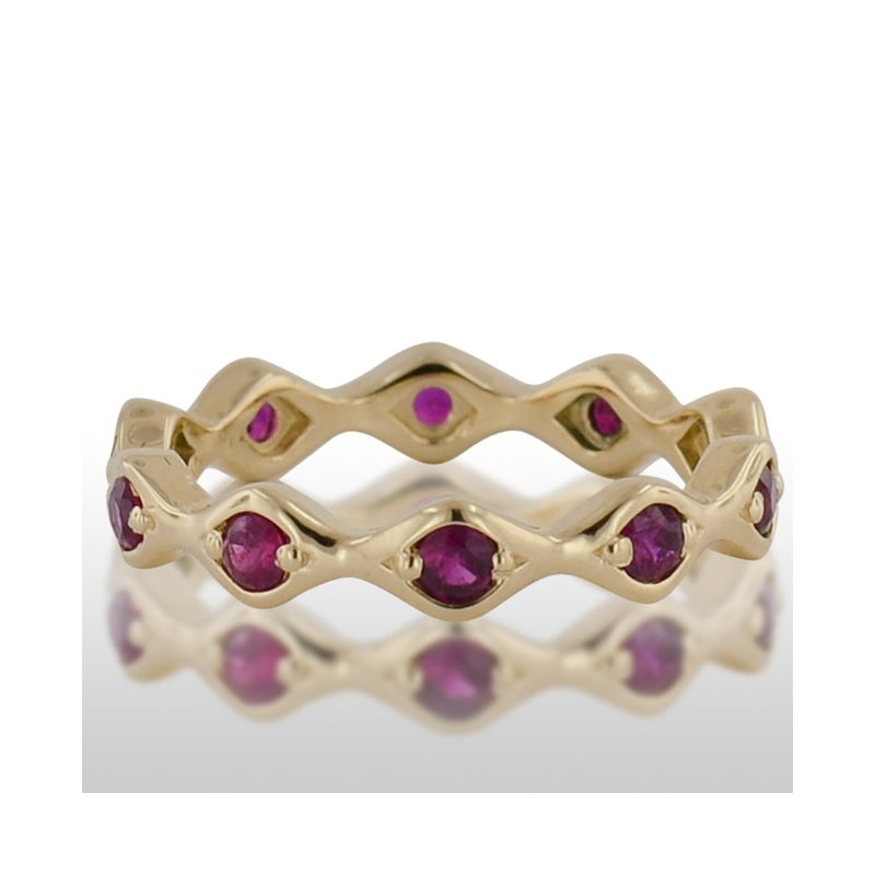 Novell Ladies' Yellow Gold Ruby Ring