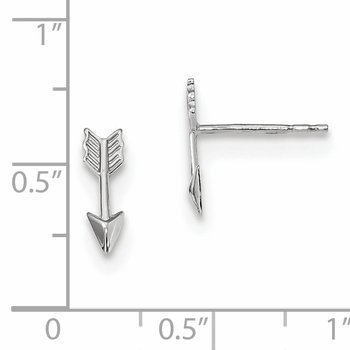 14k White Gold Polished Arrow Post Earrings