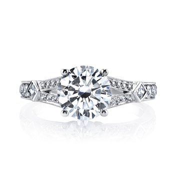 MARS 25913 Diamond Engagement Ring 0.13 Ct Pr, 0.28 Ct Rd.