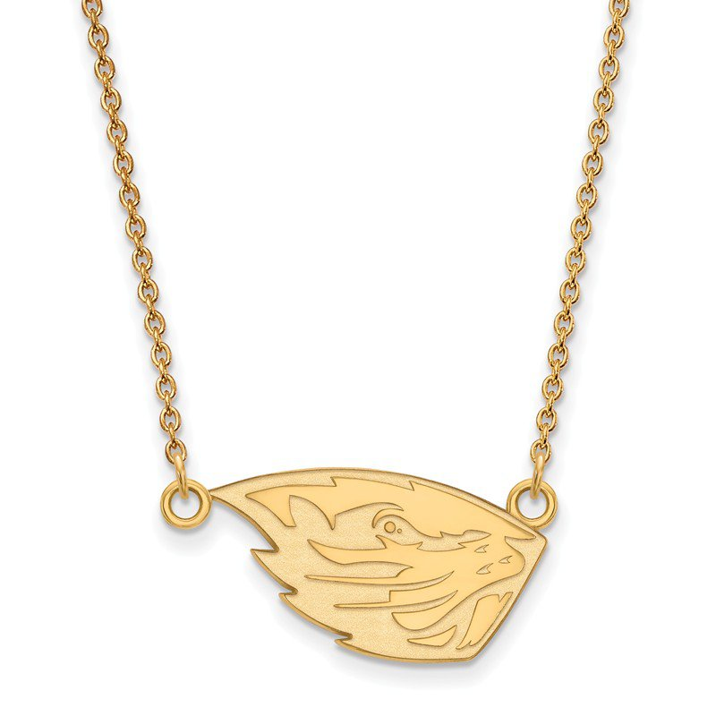 NCAA Gold-Plated Sterling Silver Oregon State University NCAA Necklace
