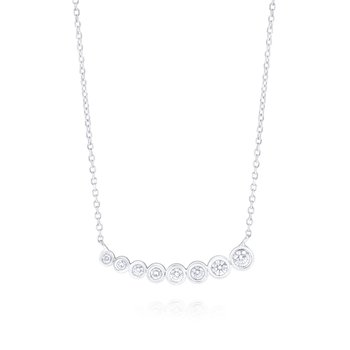 14K Gold and Diamond Bubble Necklace, Small