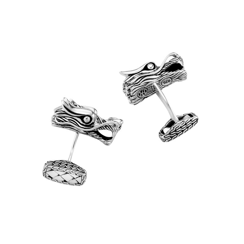 John Hardy Legends Naga Head Cufflinks in Silver