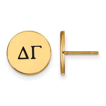 Gold-Plated Sterling Silver Delta Gamma Greek Life Earrings