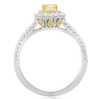Radiant Cut Split Shank Diamond Ring