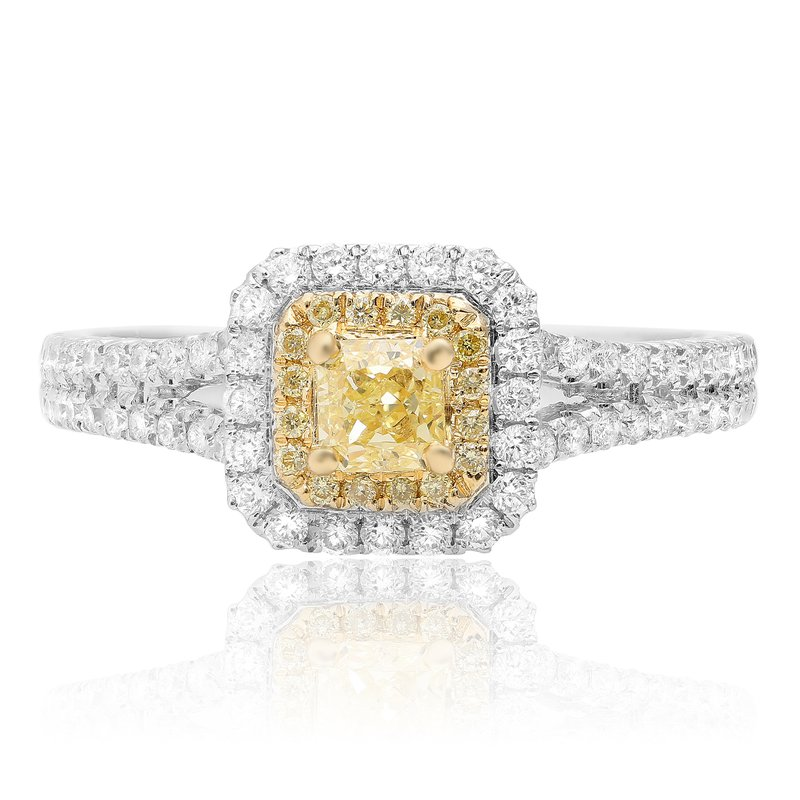 Roman & Jules Radiant Cut Split Shank Diamond Ring