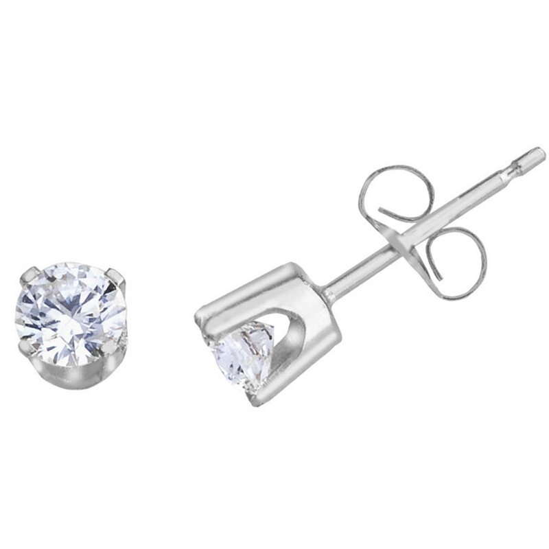 Color Merchants 14k White Gold .50 Ct Diamond Stud Earrings