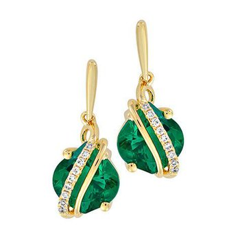 Emerald Earrings-CE4260YEM