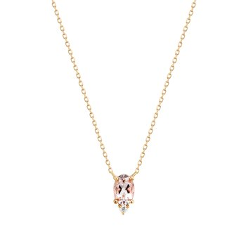 Fawn | Morganite And Diamond Necklace