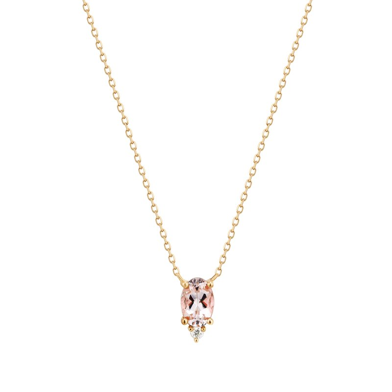 Aurelie Gi Fawn | Morganite And Diamond Necklace