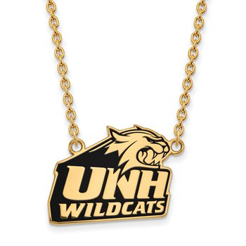 Gold-Plated Sterling Silver University of New Hampshire NCAA Necklace