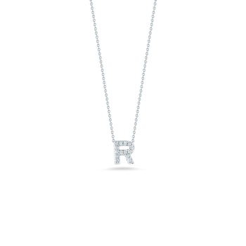 18Kt Gold Love Letter R Pendant With Diamonds