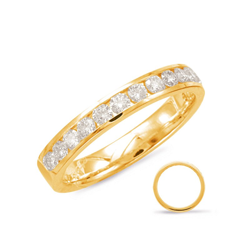S. Kashi & Sons Bridal Yellow Gold Diamond Band
