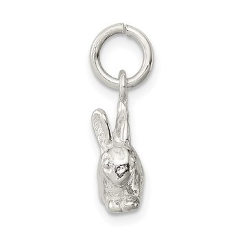 Sterling Silver 3-D Rabbit Charm