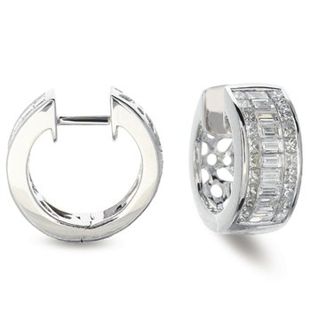 Platinum Diamond Earring