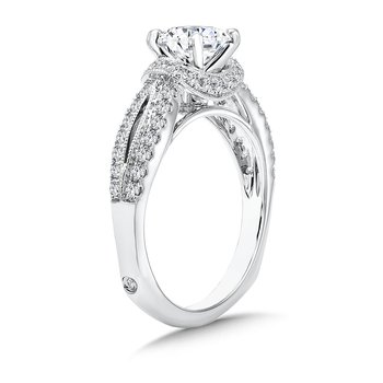 Inspired Vintage Collection Split Shank Engagement Ring in 14K White Gold with Platinum Head (1ct. tw.)