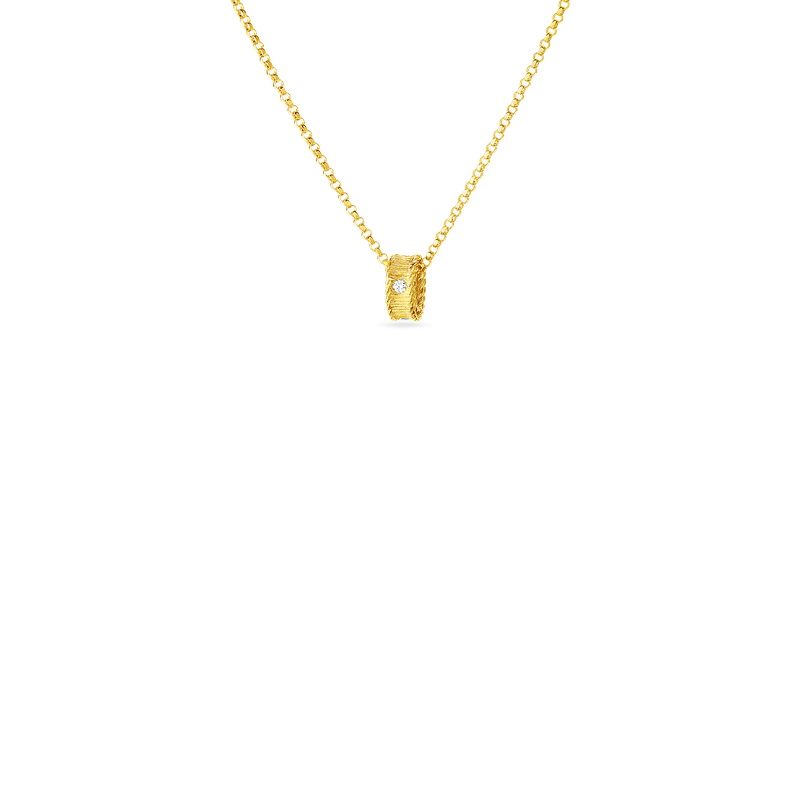 Roberto Coin  #28466 Of 18Kt Gold Princess Necklace With Diamonds