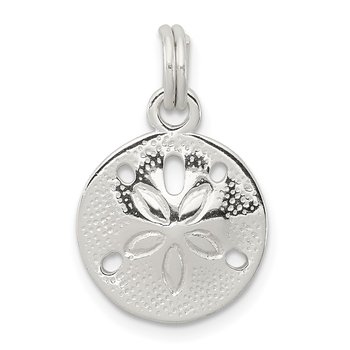 Sterling Silver Polished Sand Dollar Charm